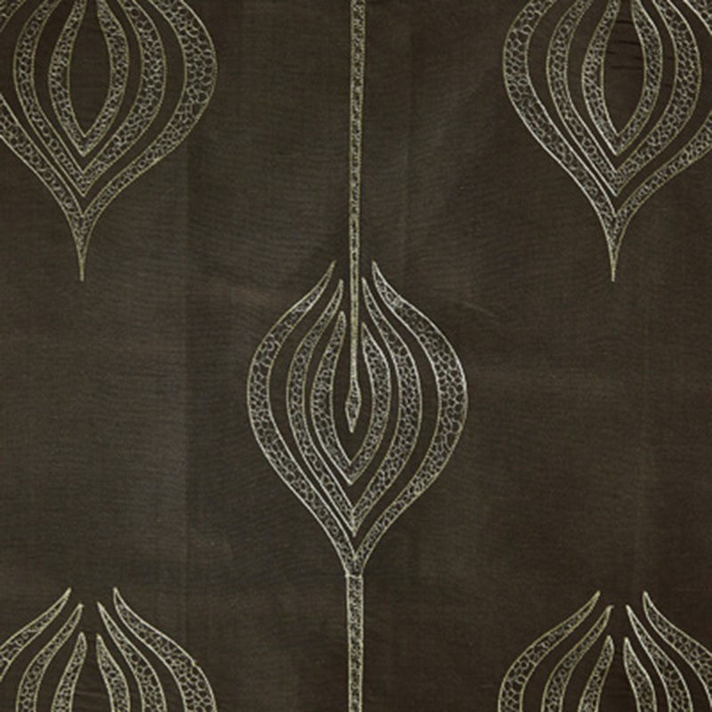 GWF-2928.30 Tulip Embroidery - Olive - Groundworks Fabric