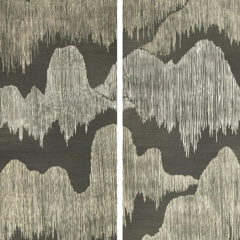 Groundworks Cascadia Paper Noir Wallpaper 40 Off Samples