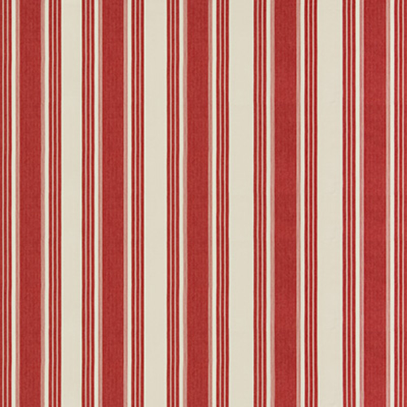 8019110.19.0 Colmar Stripe - Red - Brunschwig & Fils Fabric