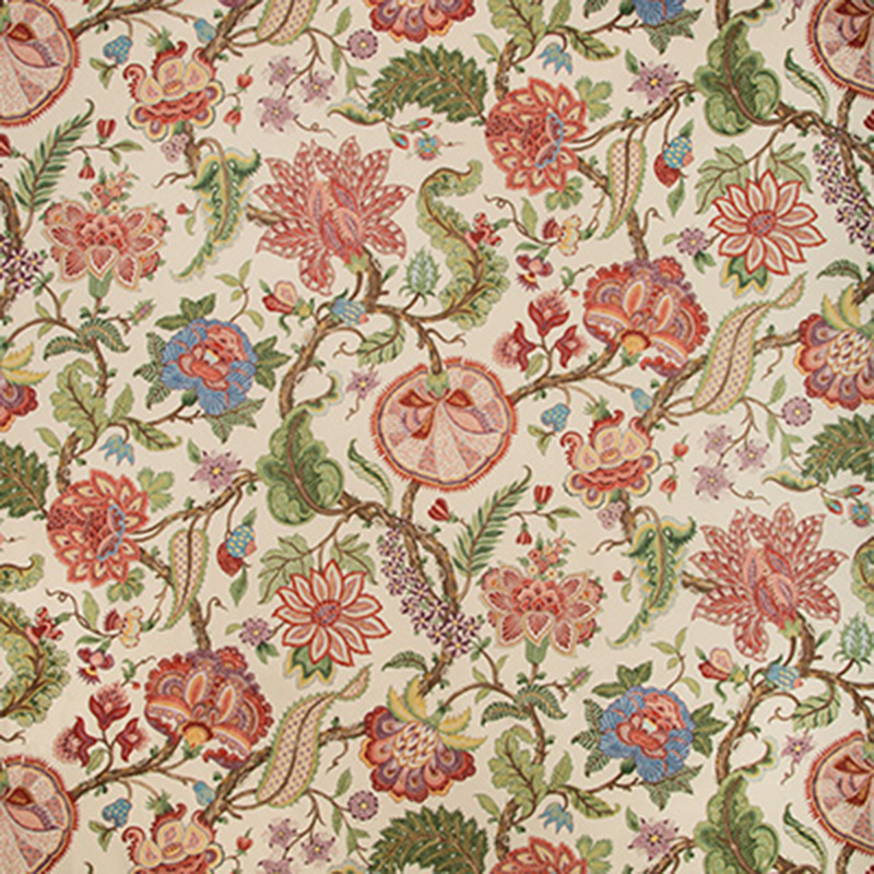 8019128.195.0 Saranda Print - Red Multi - Brunschwig & Fils Fabric