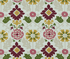 F1022/06.CAC.0 Augustina – Raspberry/Apple – Clarke & Clarke Fabric