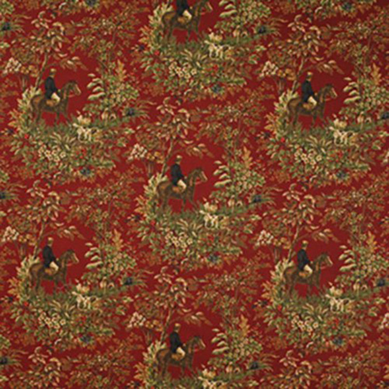 LCF24586F.RL.0 Ainsworth - Cantebury Red - Ralph Lauren Fabric