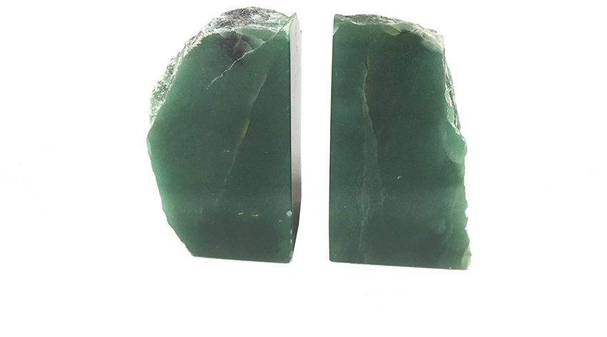 Matheus Green Quartz Bookends