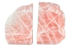 Francisca Rose Quartz Bookends