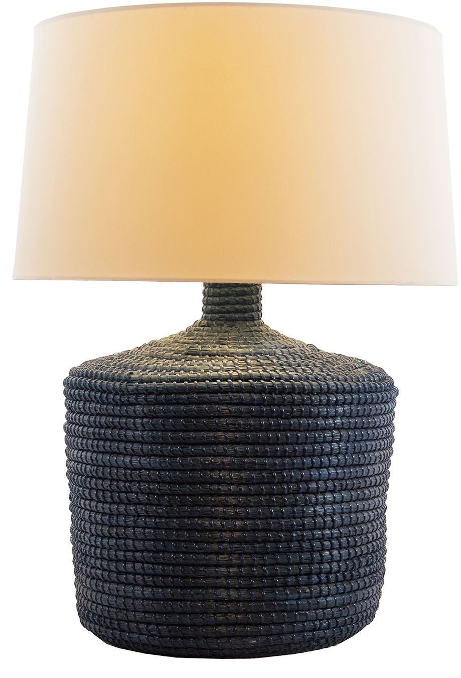 Cassone Table Lamp, Indigowht