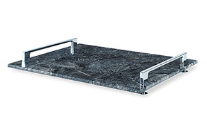 Rio Claro Tray, Large B/W, Black/White