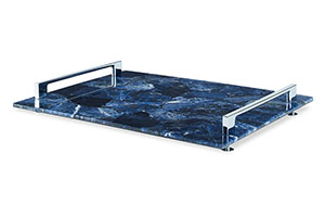Rio Claro Tray, Large Blue, Blue
