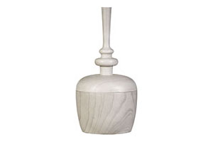Finial Box, Medium, Winterwht
