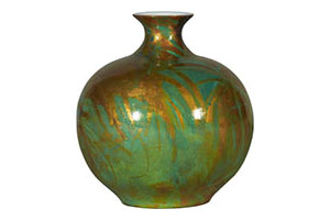 Swirls Vase, Greenmulti