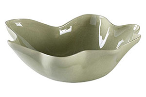 Curves Bowl, Large, Celadon