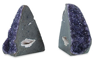 Pama Amethyst Bookends, Purple