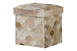 Recherche Storage Stool, Scalloped, Multbeige