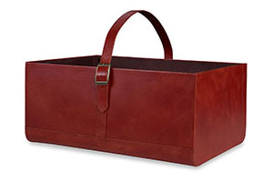 Kenilworth Basket, Leather, Brown