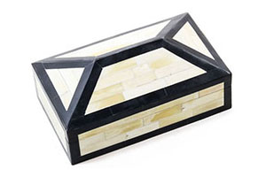 Irene Box, Ivory/Black