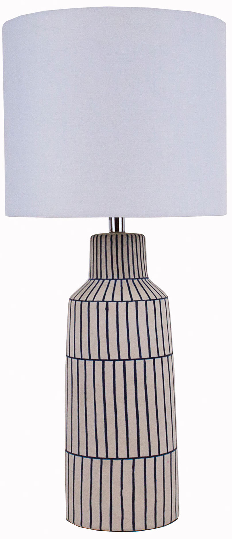 Evelyne Table Lamp, Blue/White