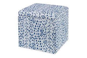 Roman Storage Ottoman, Les Touches, Blue