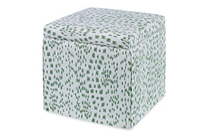 Roman Storage Ottoman, Les Touches, Green
