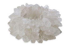 Zia Quartz Votive, Large, Clear Quartz
