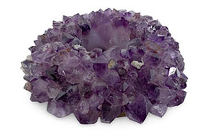 Zia Amethyst Votive, Large, Purple Amethyst