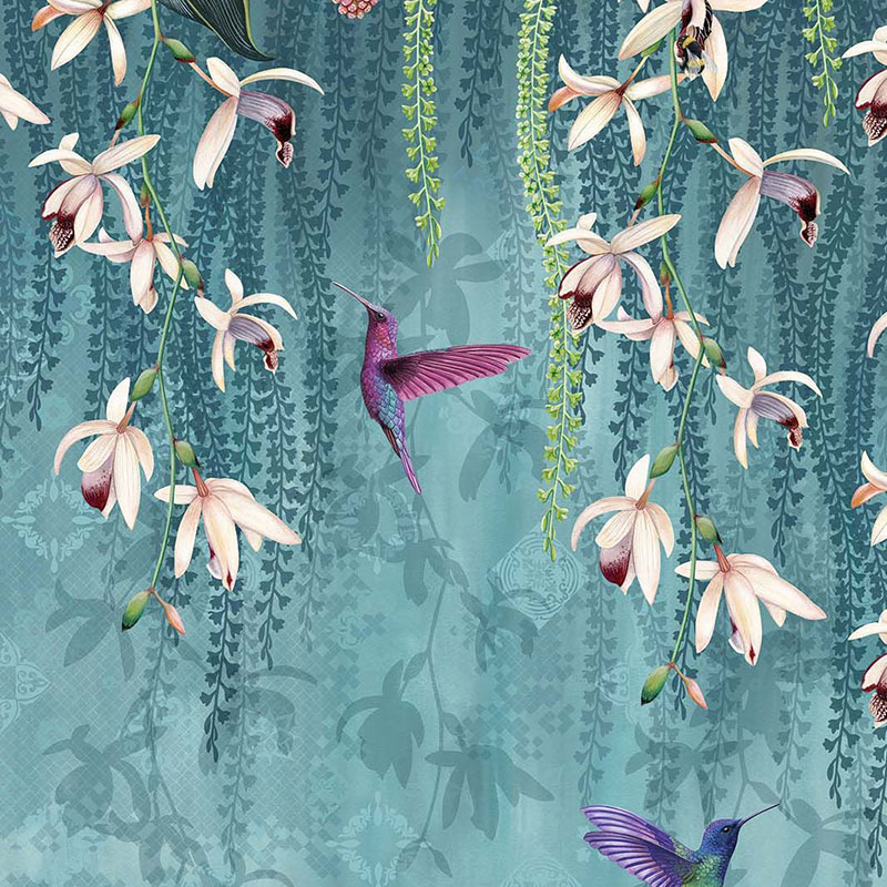 W7334-01 Trailing Orchid - 01 - Osborne & Little Wallpaper