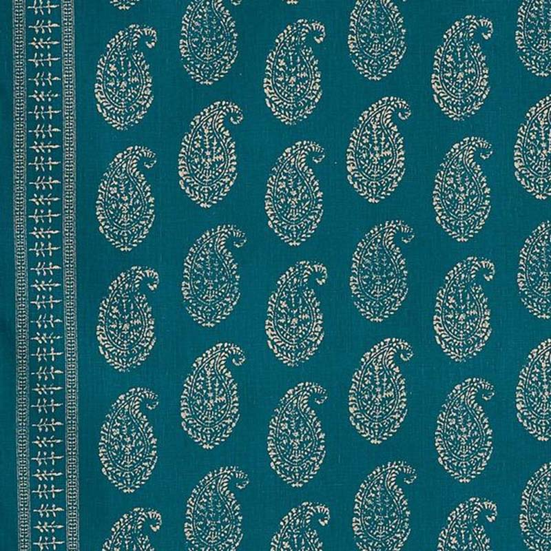 111KAP05 Kashmir Paisley Indoor - Tea/Peacock - Peter Dunham Fabric