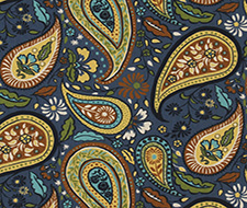 232969 Art Paisley – Indigo – Robert Allen Fabric