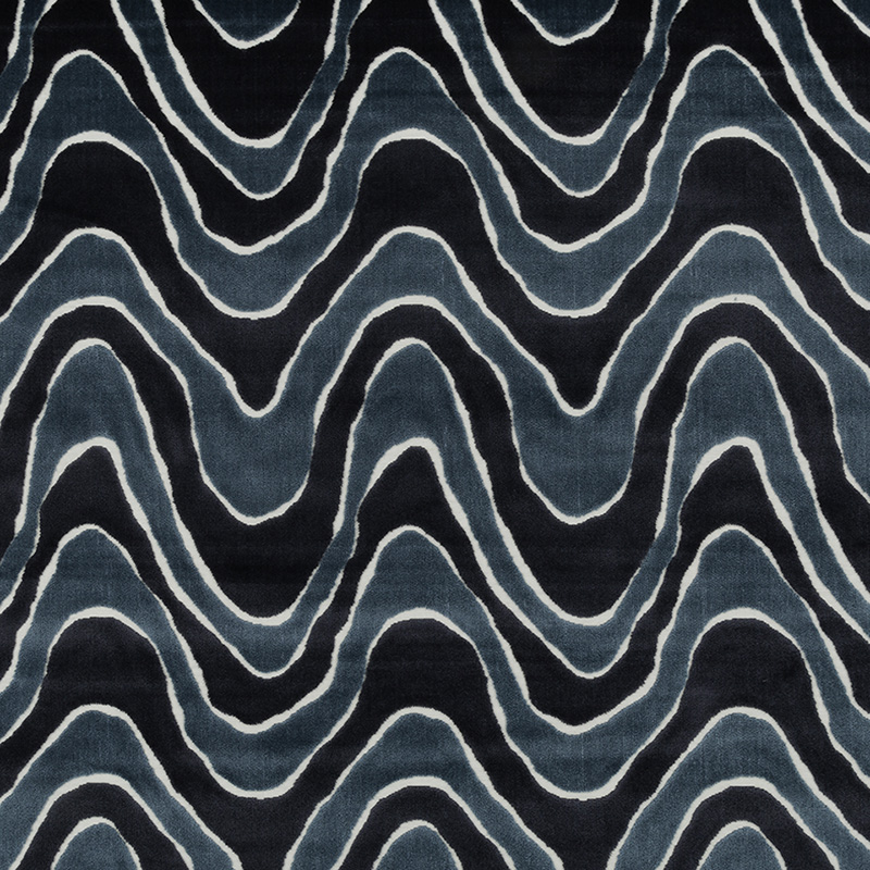 247332 Lush Wave - Batik Blue - Robert Allen Fabric