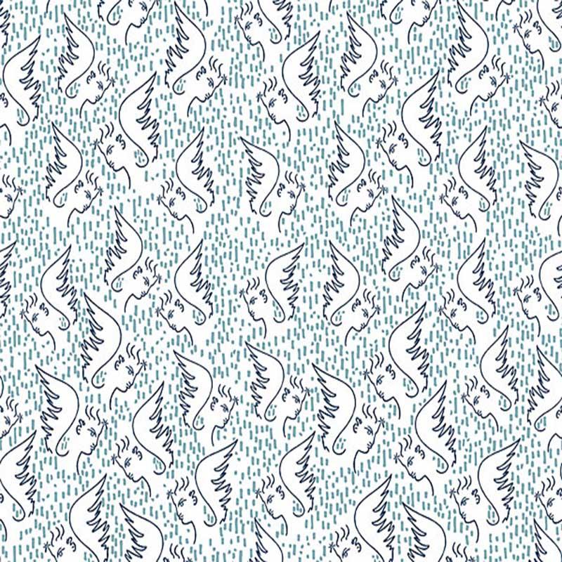 Lelievre Figure D'Ange Bleu Wallpaper