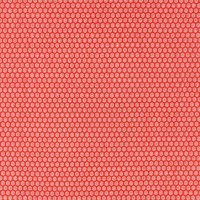 GW 000227209 (27209-002) Honeycomb Weave - Coral - Grey Watkins Fabric