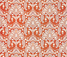 GW 000227210 (27210-002) Kandira Ikat – Papaya – Grey Watkins Fabric