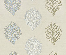 GW 000427204 Coral Reef Embroidery – Sand – Grey Watkins Fabric