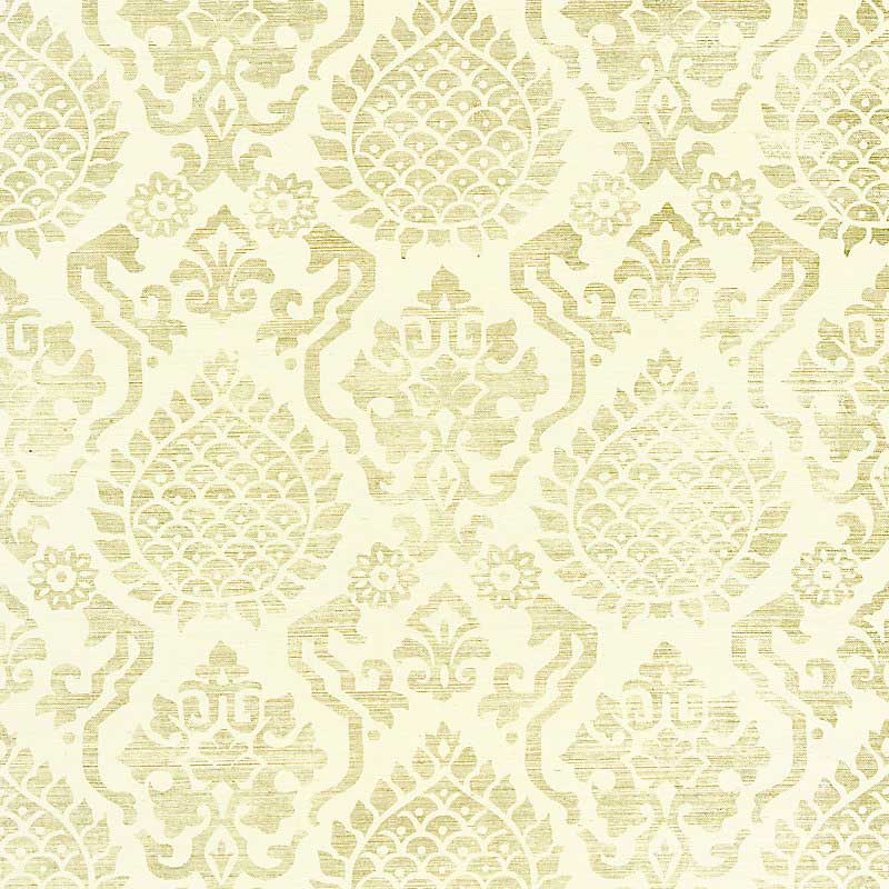 SC 0001WP88378 Surat Sisal - Burnished Gold On Cream - Scalamandre Wallpaper