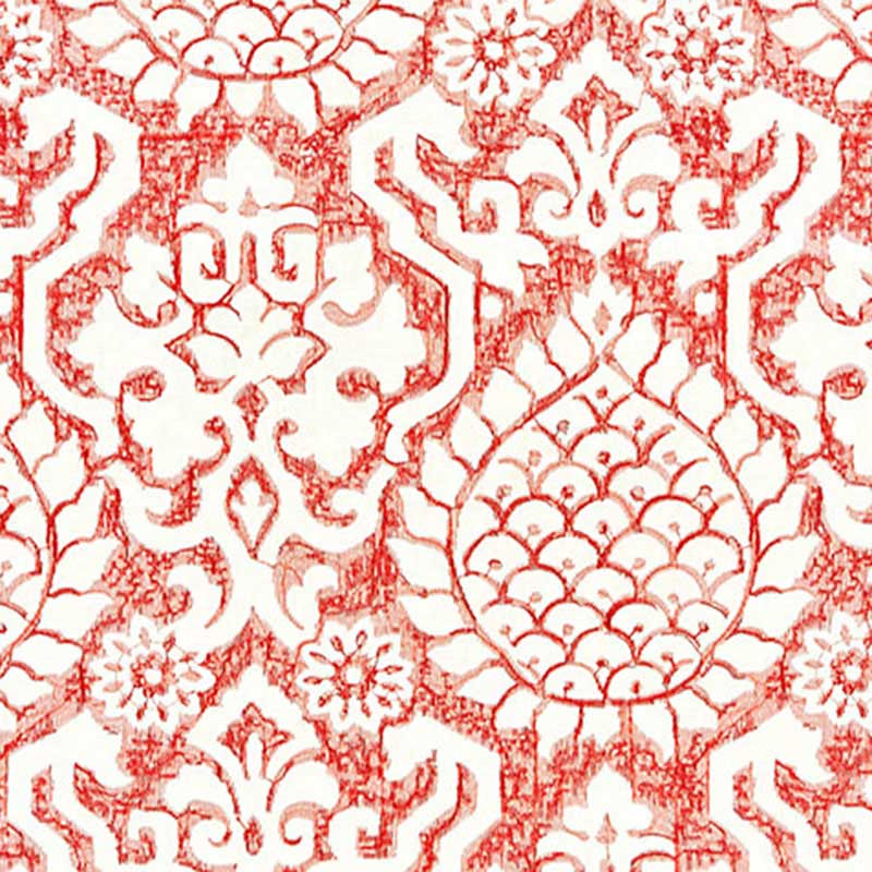 SC 000227217 Surat Embroidery - Coral - Scalamandre Fabric