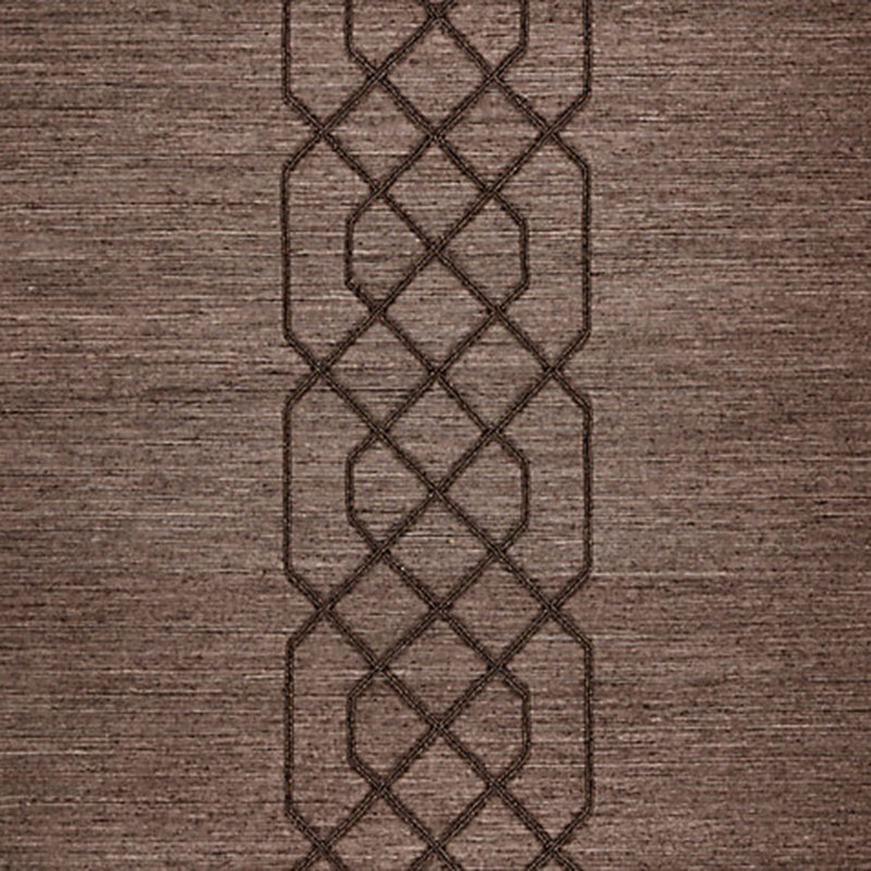 SC 0004WP88385 Adelaide Beaded Sisal - Chocolate - Scalamandre Wallpaper