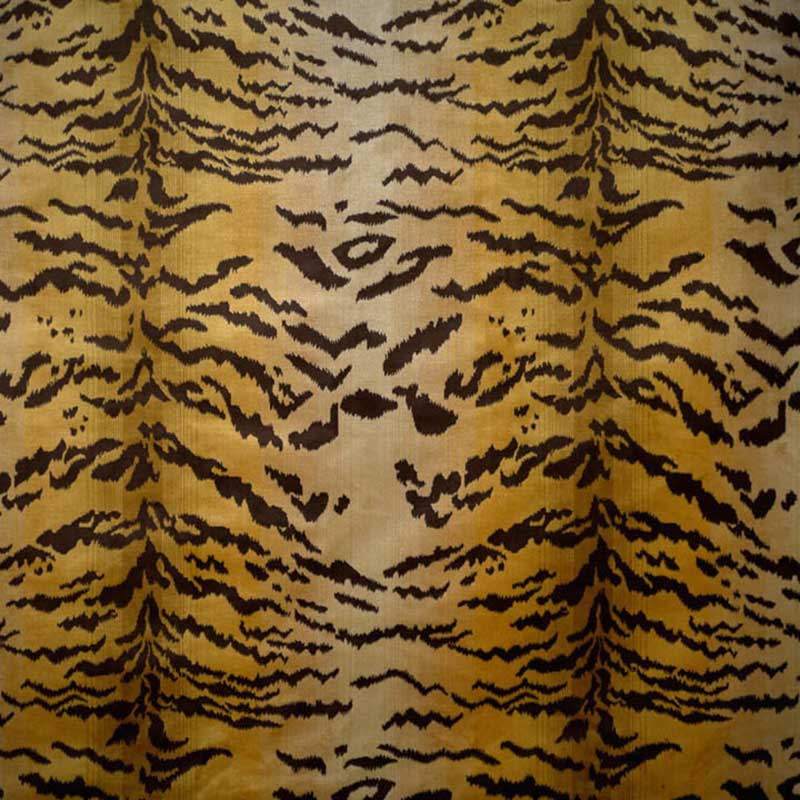 26167MM-001 Tigre - Ivory, Gold & Black - Scalamandre Fabric