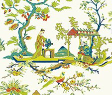 WP81212-011 Ch'In Ling – Multicolor On Ivory – Scalamandre Wallpaper