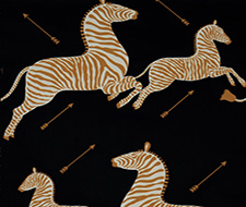 WP81388M-005 Zebras – Black – Scalamandre Wallpaper