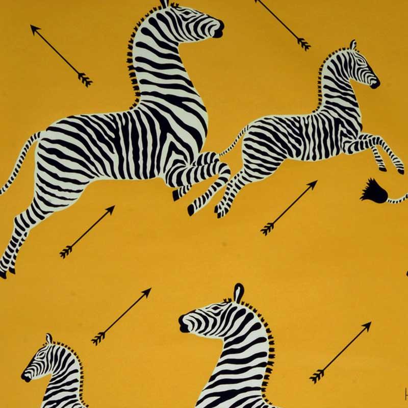 scalamandre yellow zebra