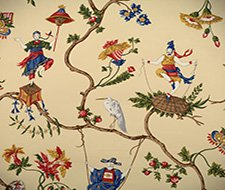 WP81605-001 Ming Circus – Multi On Beige – Scalamandre Wallpaper