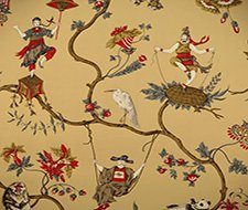 Scalamandre Ming Circus Multi On Tea Wallpaper SC 0004WP81605