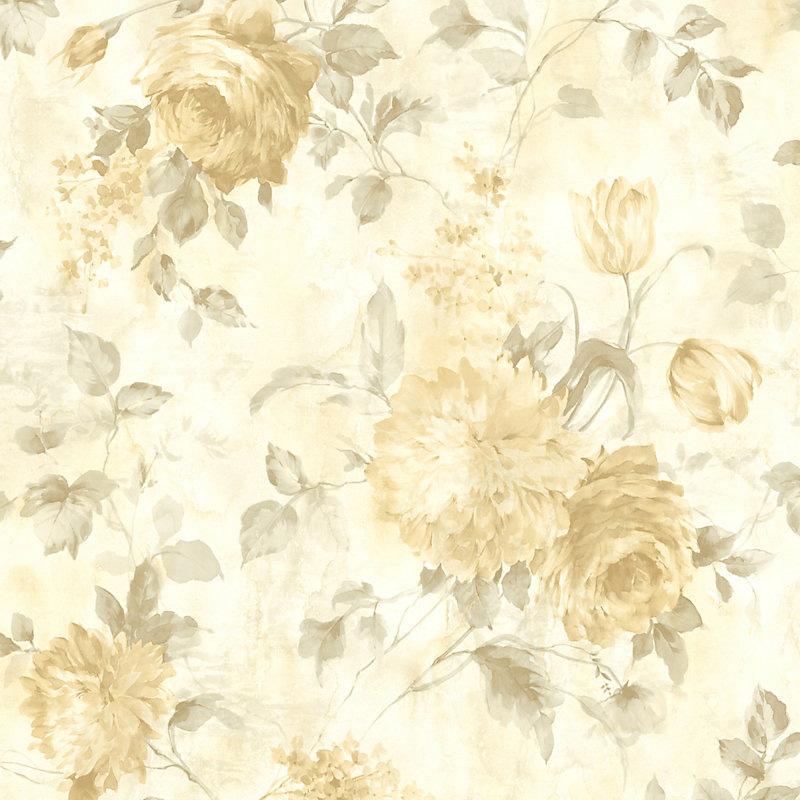 Scalamandre Sasha Gold Wallpaper 40% Off | Samples