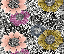 WRK0001ANEM Anemones – Black Plum – Scalamandre Wallpaper