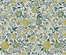 WRK0014ORGA Oriental Garden Panel – Teal Gold – Scalamandre Wallpaper