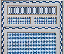 5007101 Robinchon Panel A – Blue – Schumacher Wallpaper
