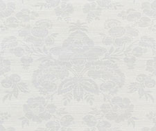 Schumacher Simone Damask Grasscloth Silver Wallpaper 5010120