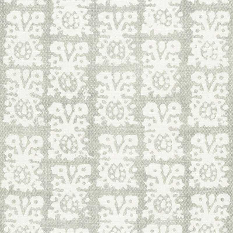 174632 Jakarta Linen Print Slate Schumacher Fabric Schumacher