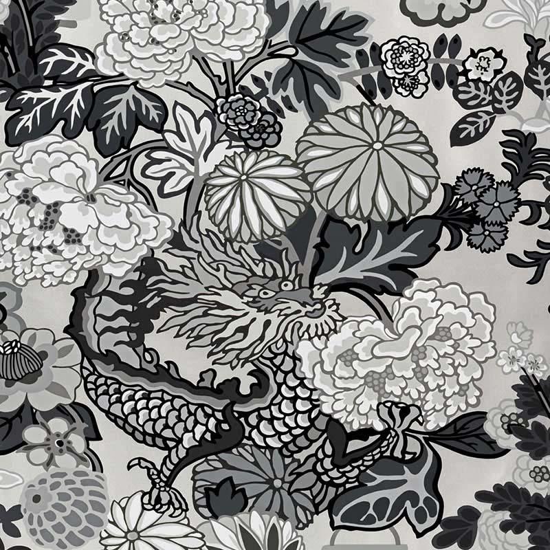 Schumacher Chiang Mai Dragon Smoke Wallpaper 5001066 L A Design