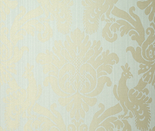 5003662 Valette Strie Damask – Robin's Egg – Schumacher Wallpaper