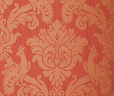 5003664 Valette Strie Damask – Garnet – Schumacher Wallpaper