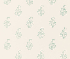 5005282 Kerala Paisley – Water Blue – Schumacher Wallpaper